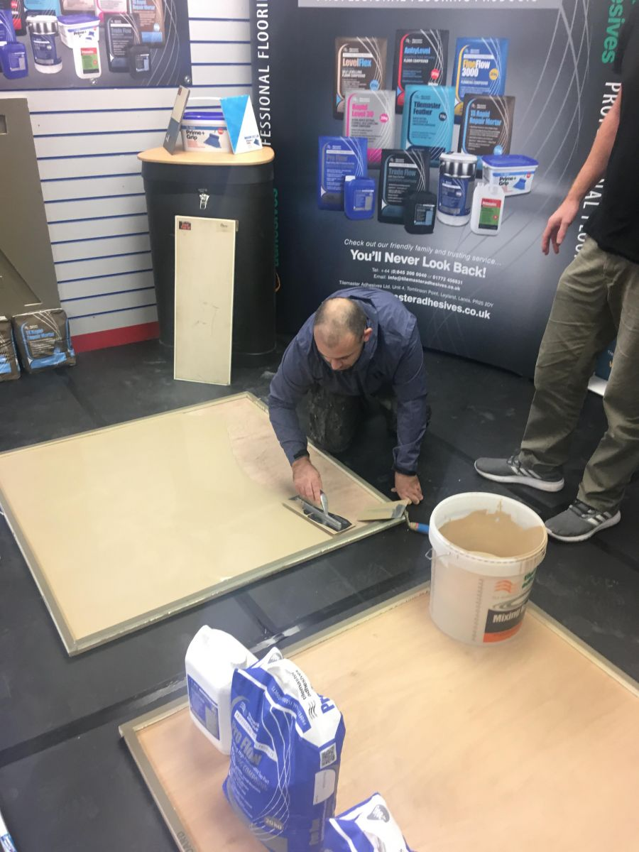 Tilemaster gets hands-on at practical training days