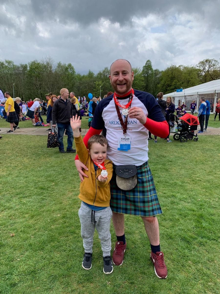 Tilemaster father-and-son team have a 'wee wander' for charity
