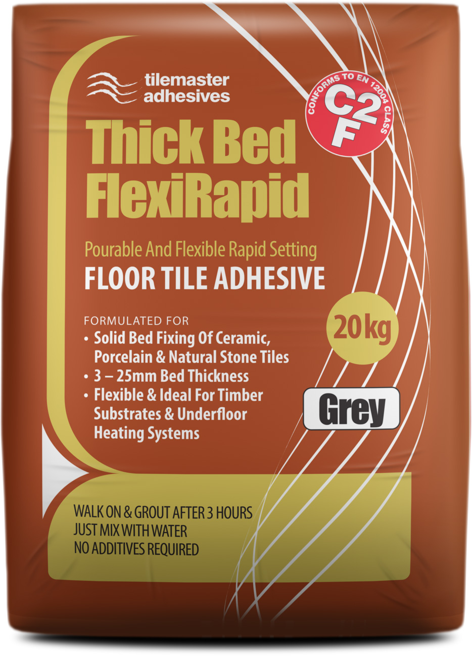 Fast, large-format bonding with Tilemaster Thick Bed FlexiRapid