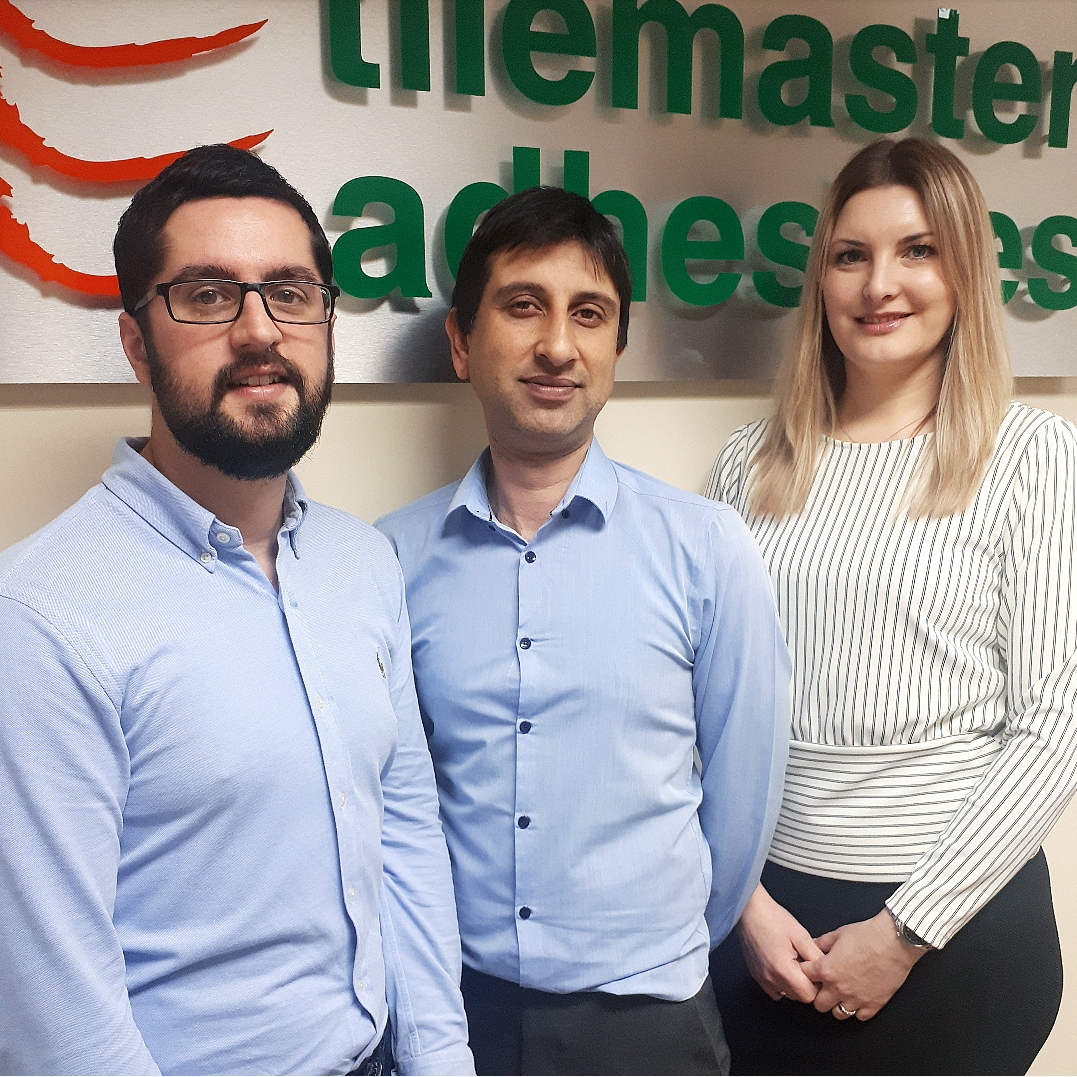 Three new appointments at Tilemaster Adhesives